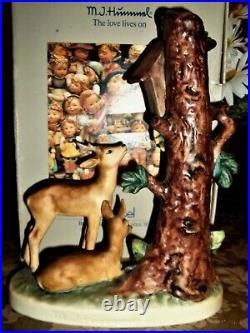 Hummel LargeFOREST SHRINEHum #183TMK 6 9 TallDEER BY SHRINE in WOODS withBOX