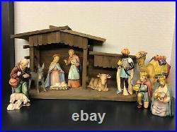 Large Hummel Goebel 10 Pc Nativity 1951 Mold EUC 8 Scale