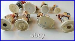 Lot of 8 Assorted Size, Vintage Goebel Hummel, VTG Porcelain Figurines