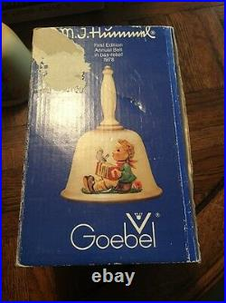 MJ Hummel Bell Goebel First Edition Annual Bell 1978 With Box Serial #50486