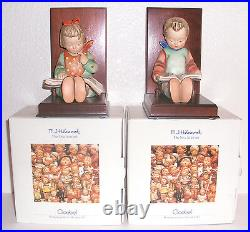 M. I. Hummel Goebel Book Worm Boy & Girl Reading Figurines Bookends