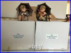 Mint Hummel /Goebel 8 Umbrella Boy/Girl 152A-152B with original boxes