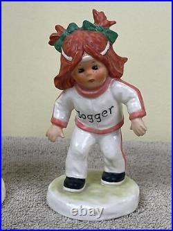 Pair (2) Goebel Hummel Redhead Figurine BOY GIRL Jogger Charlot Byj