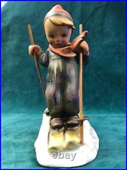 Rare Tmk1 Hummel Little Boy Skier #59 Figurine 1935-1949 Stamped Crown Bo