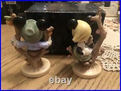 SET OF 2/Goebel/Hummel/Disney/Mickey & Minnie Mouse Apple Tree Boy & Girl