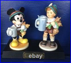 Signed Hummel Disney Mickey Mouse For Father Goebel Figurines LE