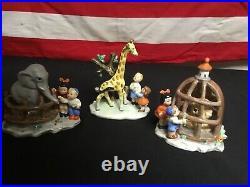 Very Rare! Vintage Goebel Hummel Circus Zoo Set. 3 Piece Set