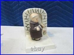 Vintage 1956 Goebel Hummel Friar Tuck Bookends Excellent W Germany
