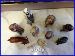 Vintage Goebel Hummel Nativity Germany 10 piece Porcelain Religious Christmas