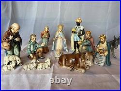 Vintage Goebel Hummel Nativity Set And Manger