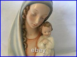 Vintage Hm 21 Hummel Goebel Mary Jesus Bust Tabletop Mother Child Catholic 11
