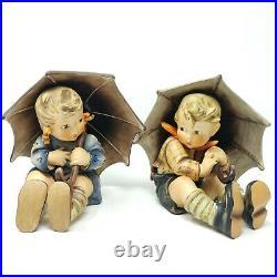 Vintage Hummel Goebel Umbrella Boy and Girl Pair 152/A &152/B 8 Tall