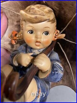 Vintage Hummel Goebel figurines Model #152 Girl under Umbrella 5 tall