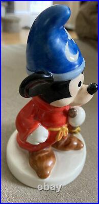 Vintage Rare Goebel Hummel Disney Ceramic Fantasia Sorcerer Mickey Figurine