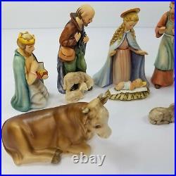 Vtg 10 Piece Hummel Goebel Nativity Set West Germany All #214 TMK 6 1951 Rare Ec