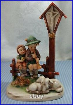 Wayside Devotion Hummel Goebel TMK3 Forest Shrine Cross Porcelain Figurine 2234B